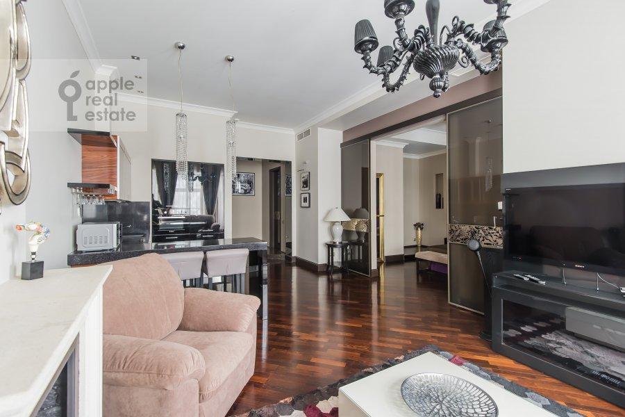 Living room of the 2-room apartment at Malaya Polyanka 2