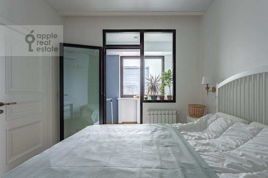 Bedroom of the 2-room apartment at Kronshtadtskiy bul'var 6k1