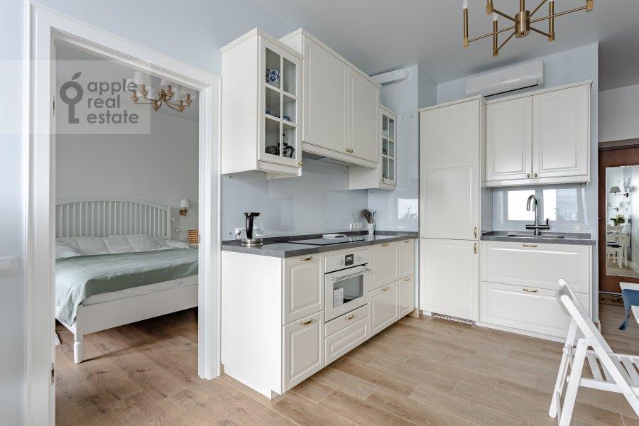 Kitchen of the 2-room apartment at Kronshtadtskiy bul'var 6k1