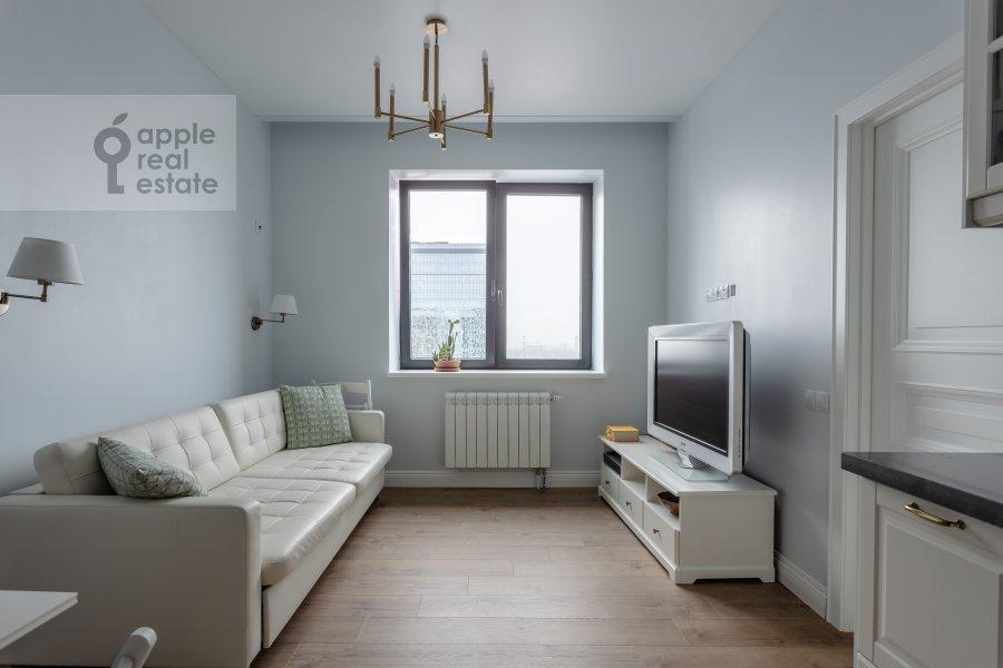 Living room of the 2-room apartment at Kronshtadtskiy bul'var 6k1