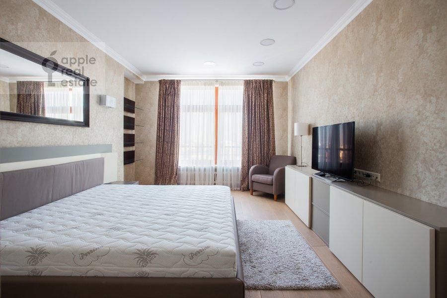 Bedroom of the 3-room apartment at Bol'shoy Tishinskiy pereulok 10s1