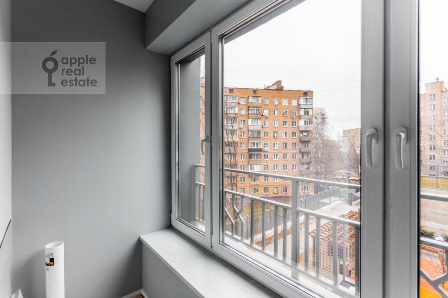 Balcony / Terrace / Loggia of the 2-room apartment at Grishina 16