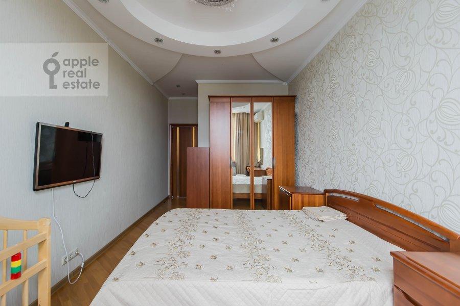 Bedroom of the 3-room apartment at Leningradskiy prospekt 76k2