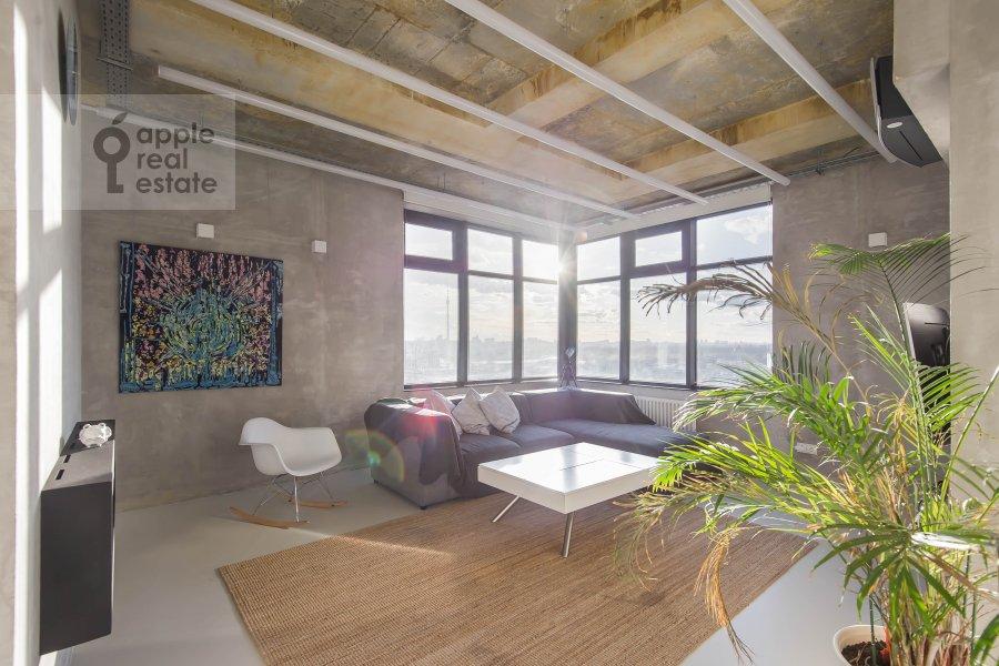 Гостиная в 3-комнатной квартире по адресу проспект Мира 188Бк4