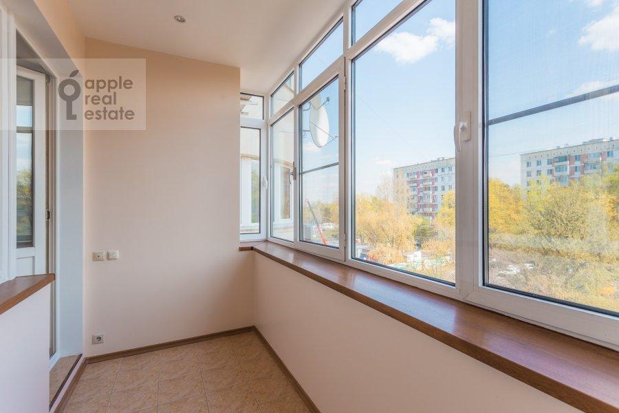 Balcony / Terrace / Loggia of the 3-room apartment at Arkhitektora Vlasova ul. 18