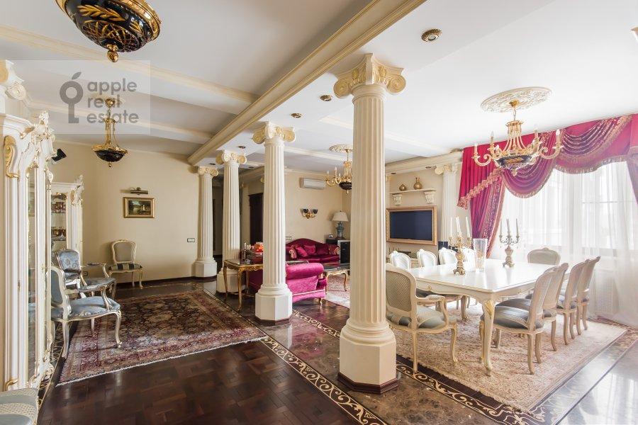 Living room of the 3-room apartment at Novatorov ul. 8 korp2