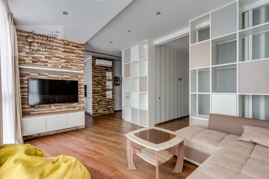 Гостиная в 2-комнатной квартире по адресу Рублевское шоссе 70к6