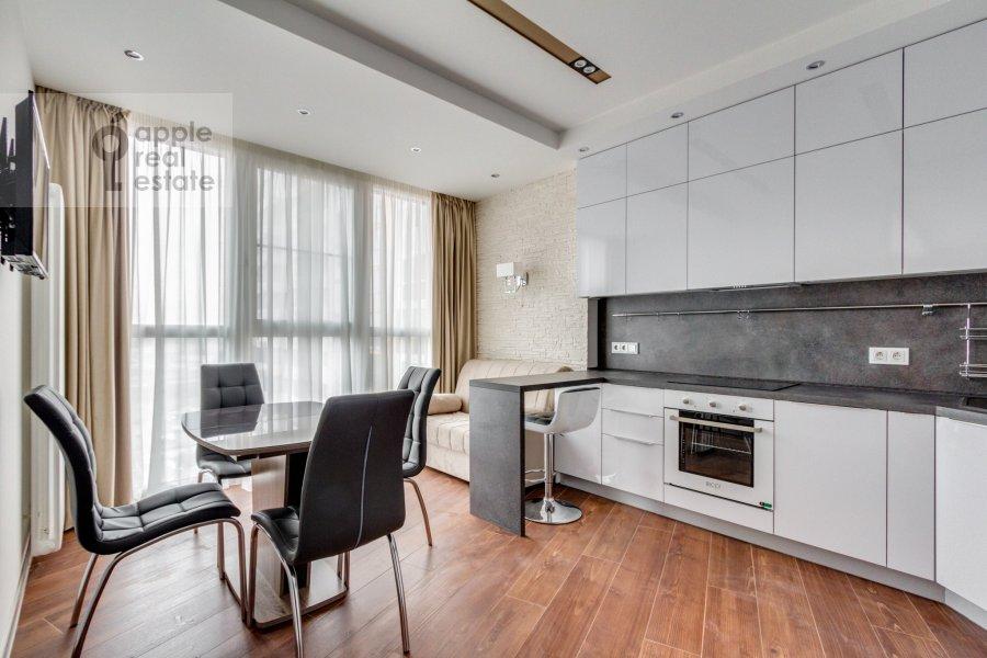 Кухня в 2-комнатной квартире по адресу Рублевское шоссе 70к6