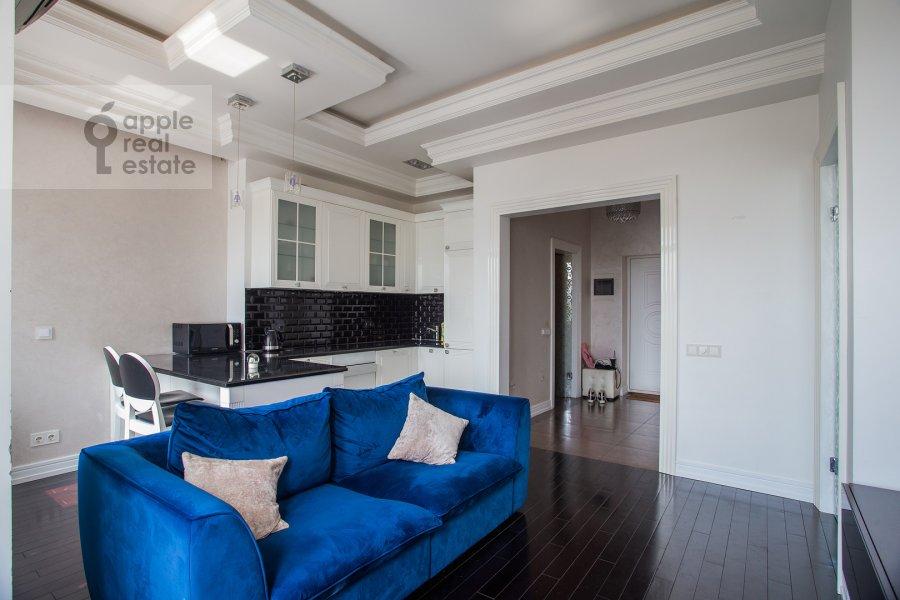 Гостиная в 2-комнатной квартире по адресу Просвирин переулок 15