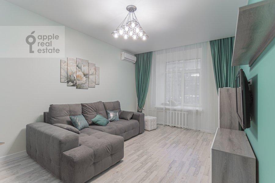 Гостиная в 2-комнатной квартире по адресу Кутузовский проспект 30