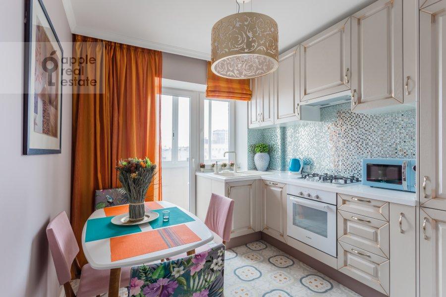 Kitchen of the 3-room apartment at Kutuzovskiy prospekt 22k2