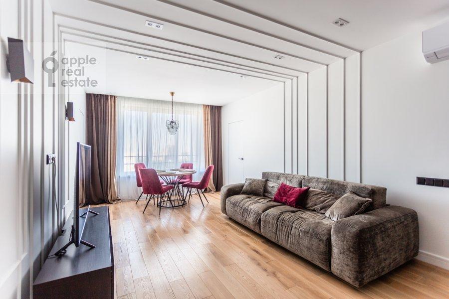 Гостиная в 3-комнатной квартире по адресу Ленинский пр-т. 95Б