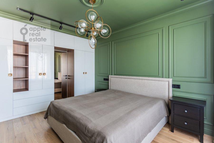 Bedroom of the 3-room apartment at Leninskiy pr-t. 95B