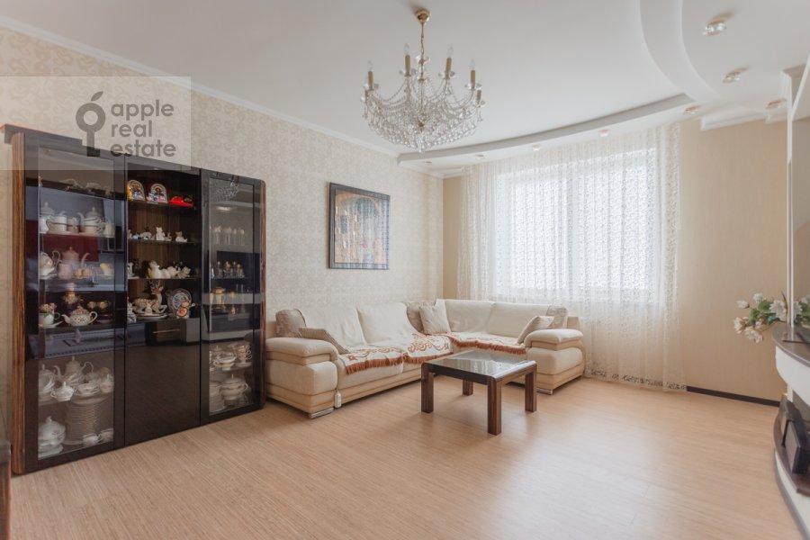 Гостиная в 3-комнатной квартире по адресу проспект Вернадского 105к4