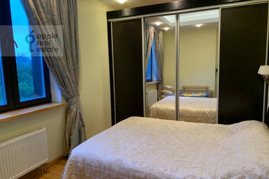 Bedroom of the 3-room apartment at Zarechnaya ul. 6s1