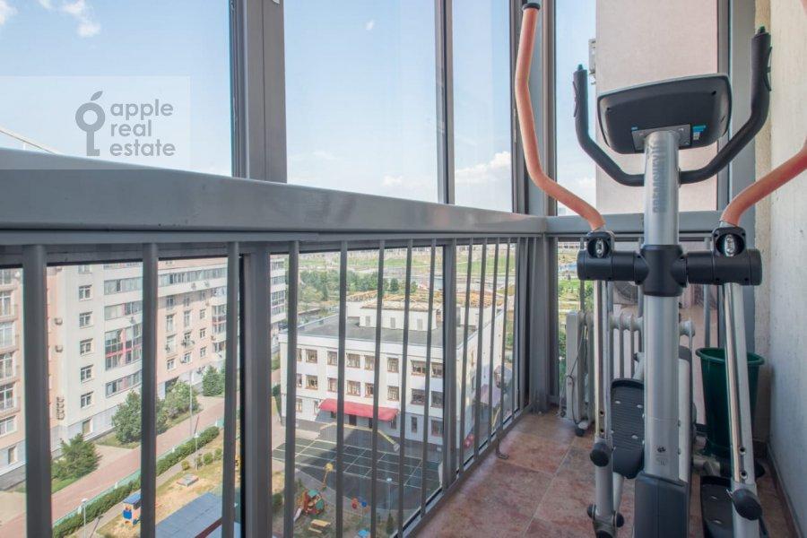 Balcony / Terrace / Loggia of the 3-room apartment at Khodynskiy bul'var 11