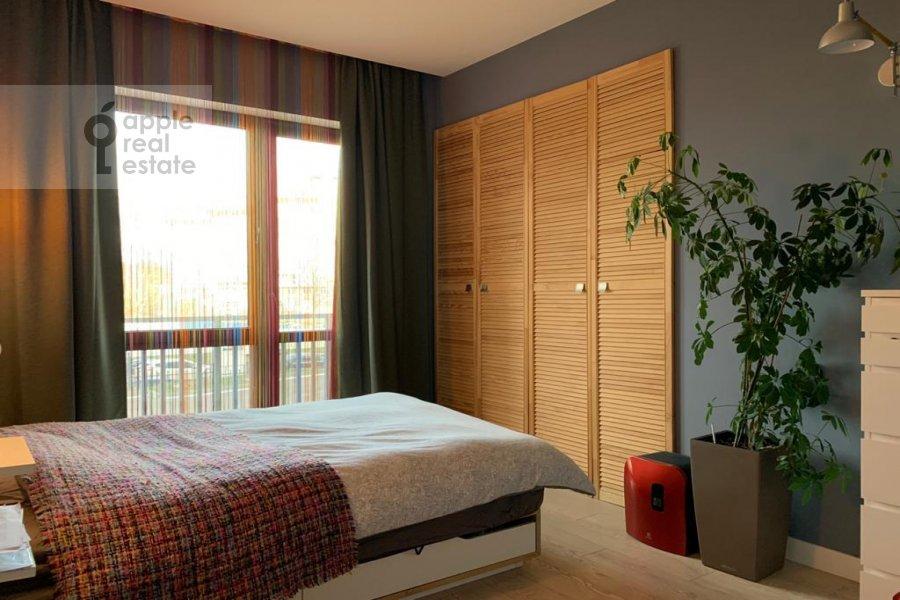 Bedroom of the 3-room apartment at Kashtanovaya ul. 6