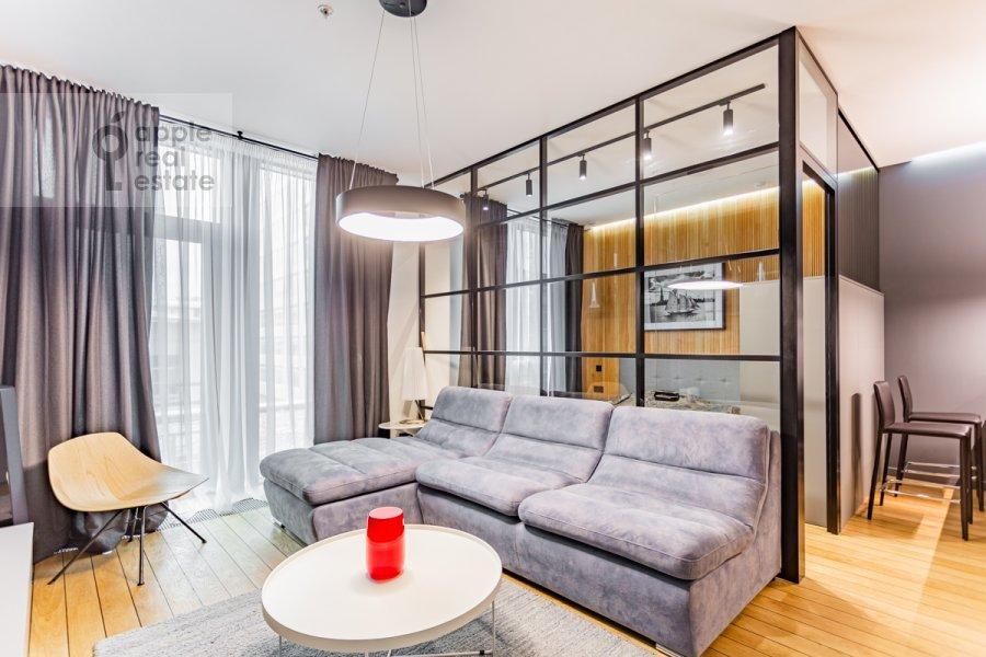 Гостиная в 1-комнатной квартире по адресу Воробьевское шоссе 4с1