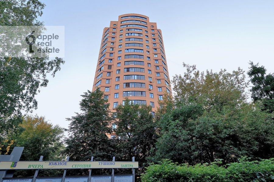 Photo of the house of the 1-room apartment at Skhodnenskaya ulitsa 35 s1