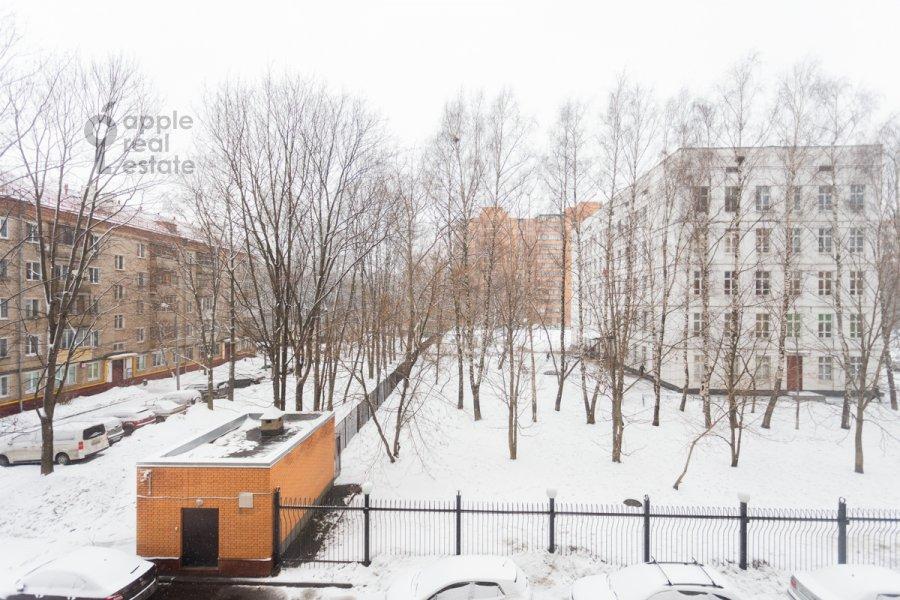 View from the window of the 1-room apartment at Skhodnenskaya ulitsa 35 s1