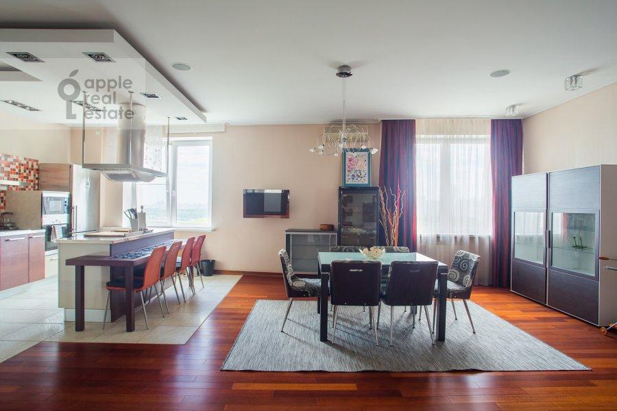 Living room of the 4-room apartment at Krylatskie Kholmy 33k3