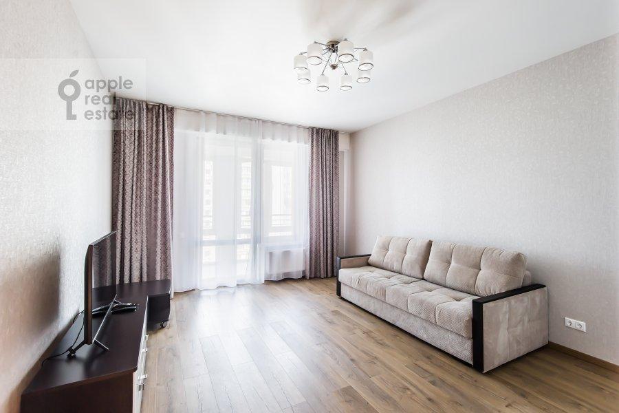 Living room of the 2-room apartment at El'dara Ryazanova 2