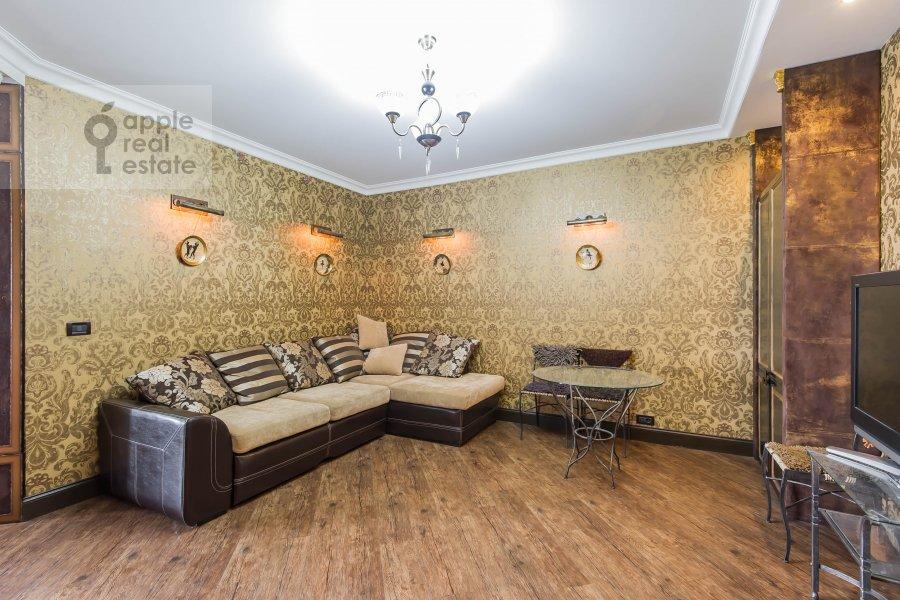 Гостиная в 2-комнатной квартире по адресу Хорошевское шоссе 16к2