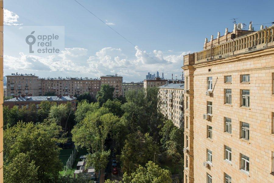 View from the window of the 2-room apartment at Frunzenskaya naberezhnaya 50