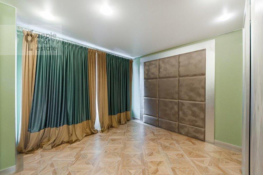 Bedroom of the 3-room apartment at Rublevskoe shosse 101