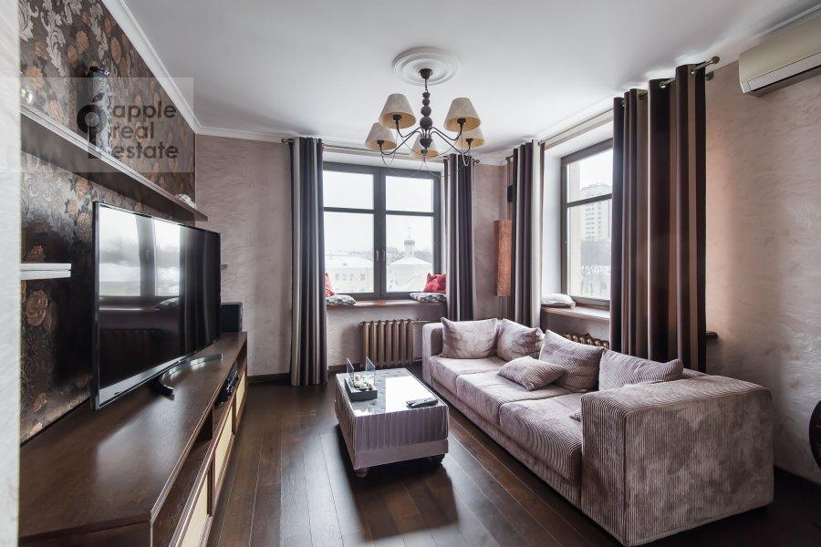 Гостиная в 3-комнатной квартире по адресу Ленинский проспект 20