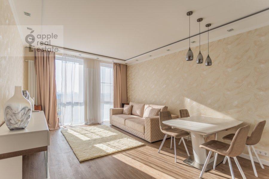 Living room of the 4-room apartment at 3-ya Khoroshevskaya ulitsa 25k4