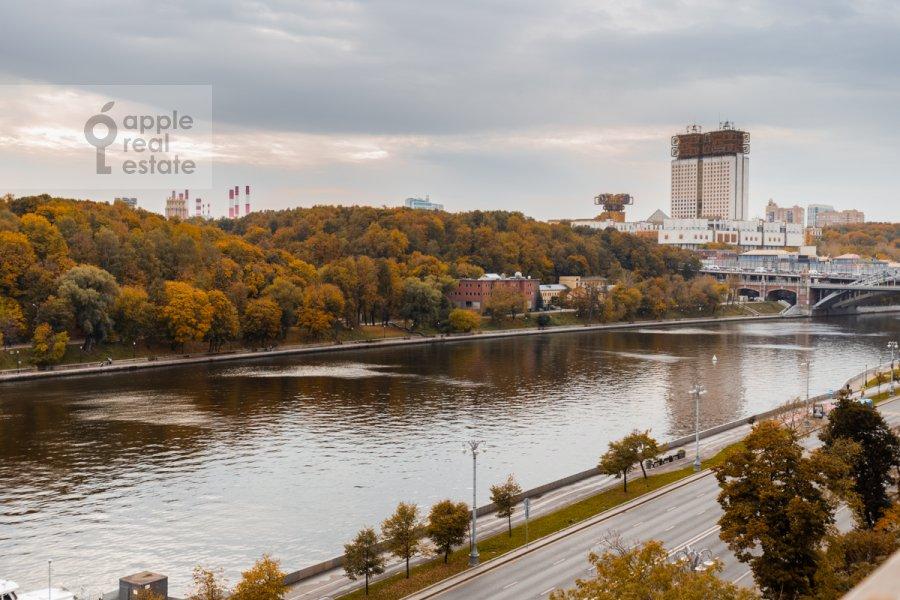 View from the window of the 3-room apartment at Frunzenskaya naberezhnaya 46