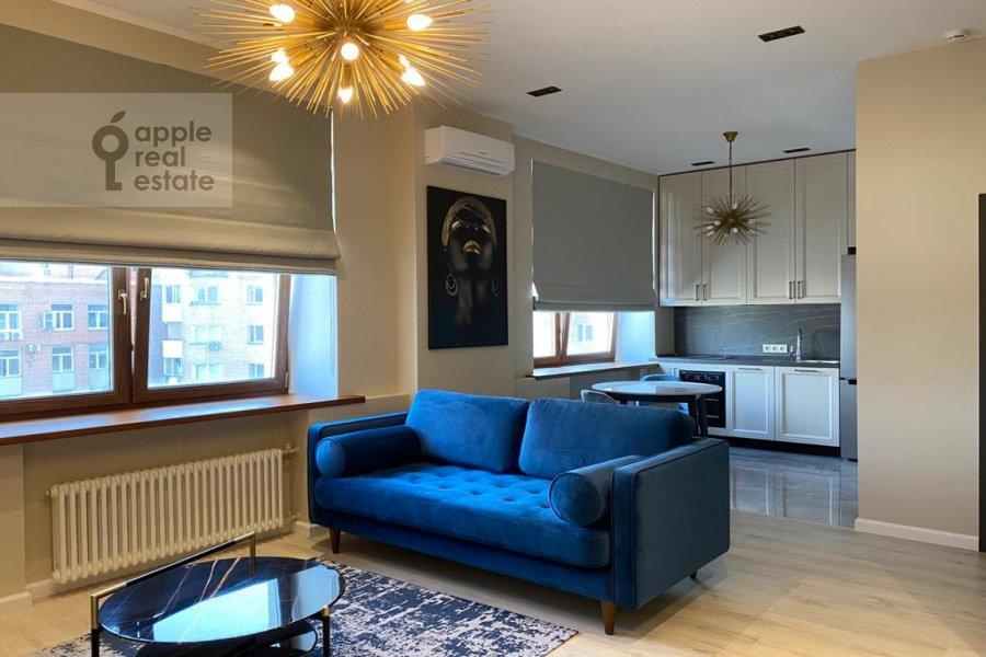 Гостиная в квартире-студии по адресу переулок Красина 16с1