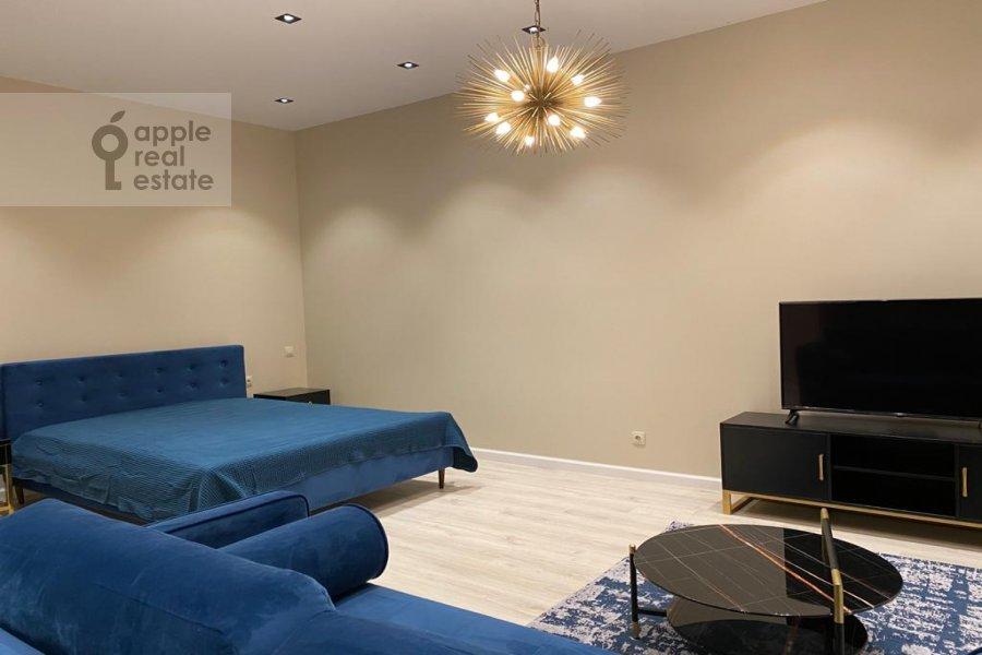 Спальня в квартире-студии по адресу переулок Красина 16с1