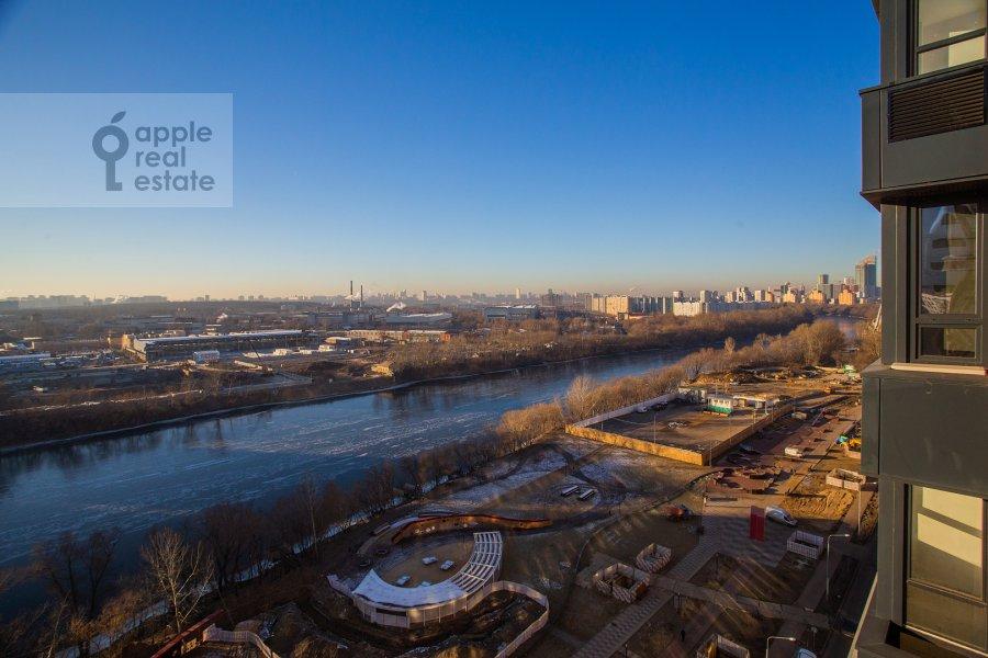 View from the window of the 4-room apartment at Shelepikhinskaya naberezhnaya 34k2