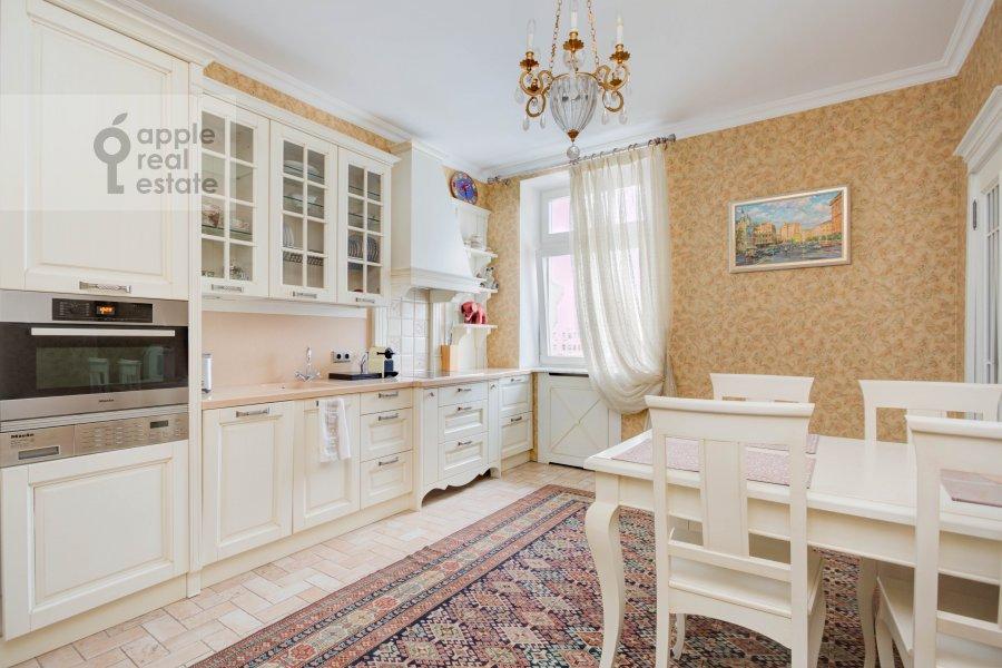 Kitchen of the 3-room apartment at Pogorel'skiy pereulok 6
