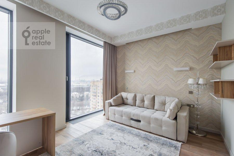 Children's room / Cabinet of the 3-room apartment at Leninskiy prospekt 38Ak3