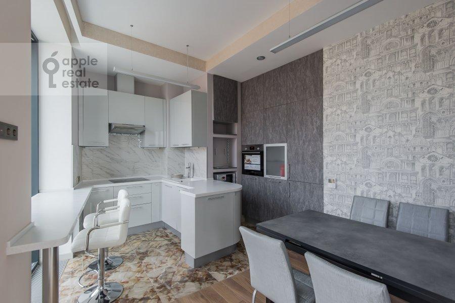 Kitchen of the 3-room apartment at Leninskiy prospekt 38Ak3