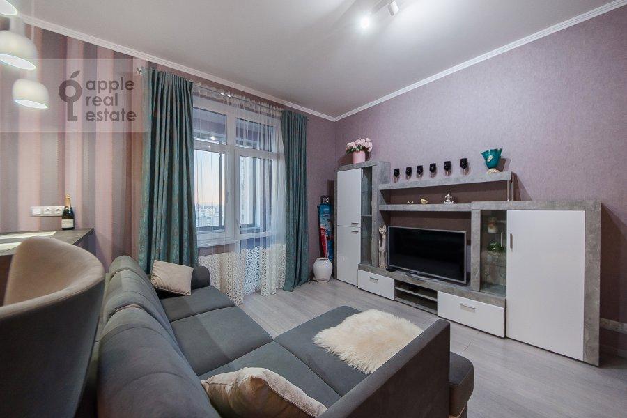 Гостиная в квартире-студии по адресу Берзарина 28а к1