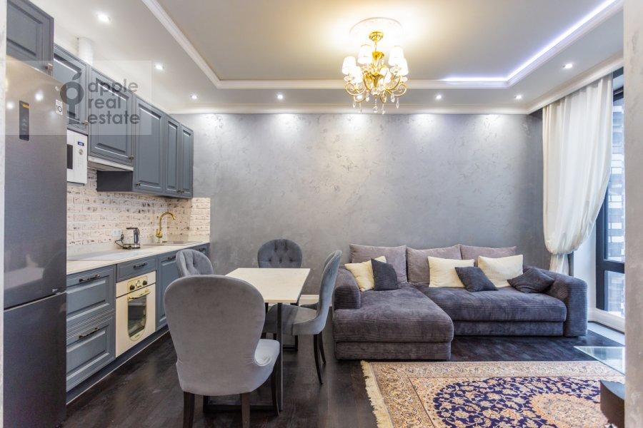 Гостиная в 3-комнатной квартире по адресу Ходынская ул. 2