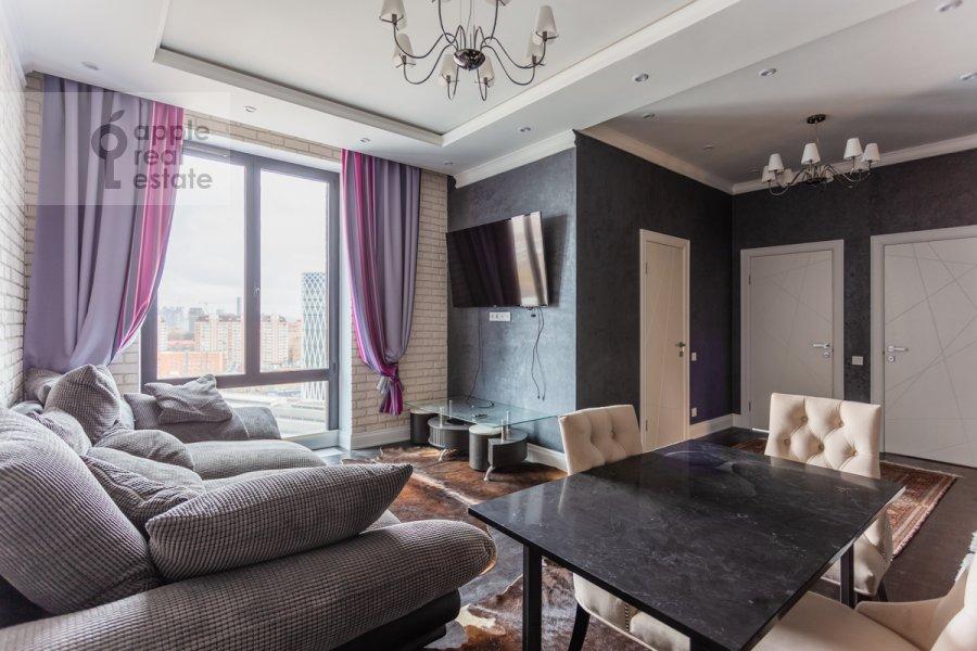 Living room of the 3-room apartment at Khodynskaya ulitsa 2