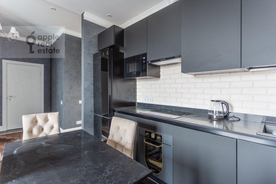 Kitchen of the 3-room apartment at Khodynskaya ulitsa 2
