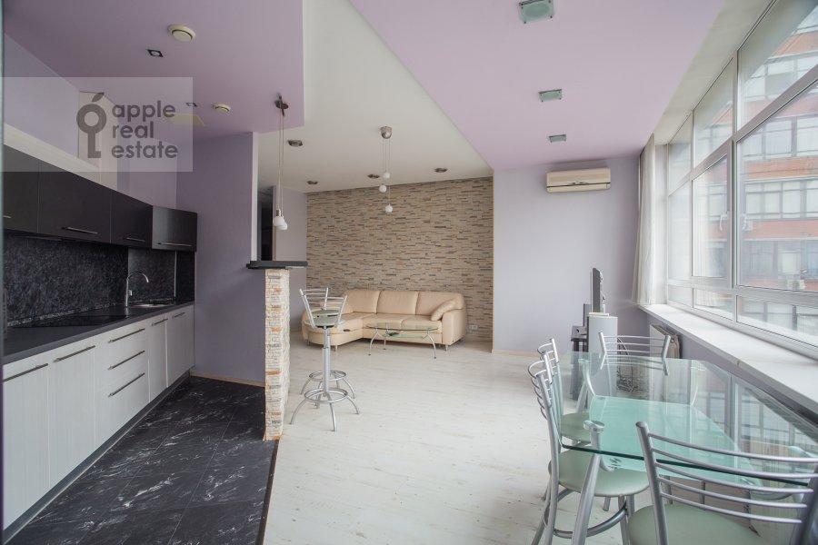 Living room of the 3-room apartment at Leningradskiy prospekt 76k4