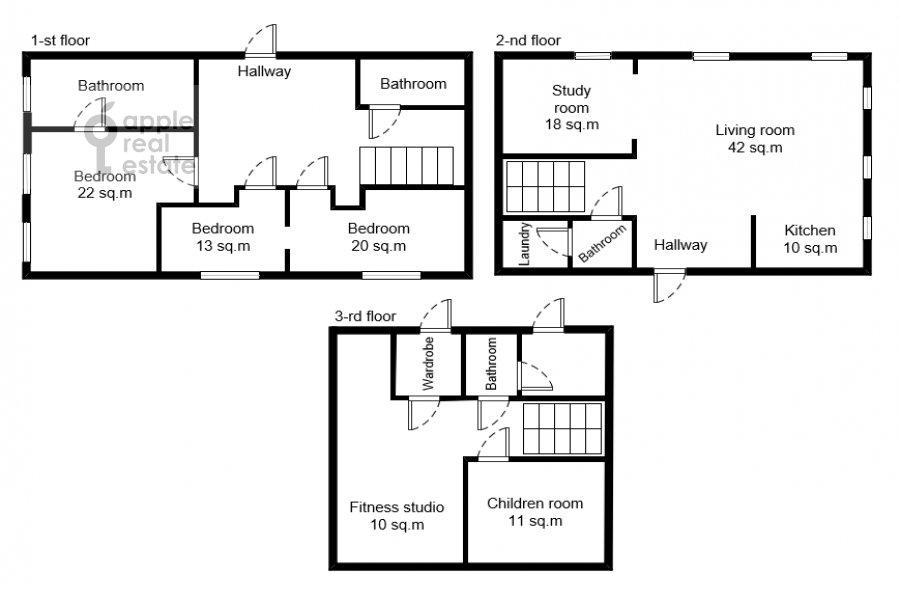 Floor plan of the 6-room apartment at Bol'shaya Ordynka , 31/12S1