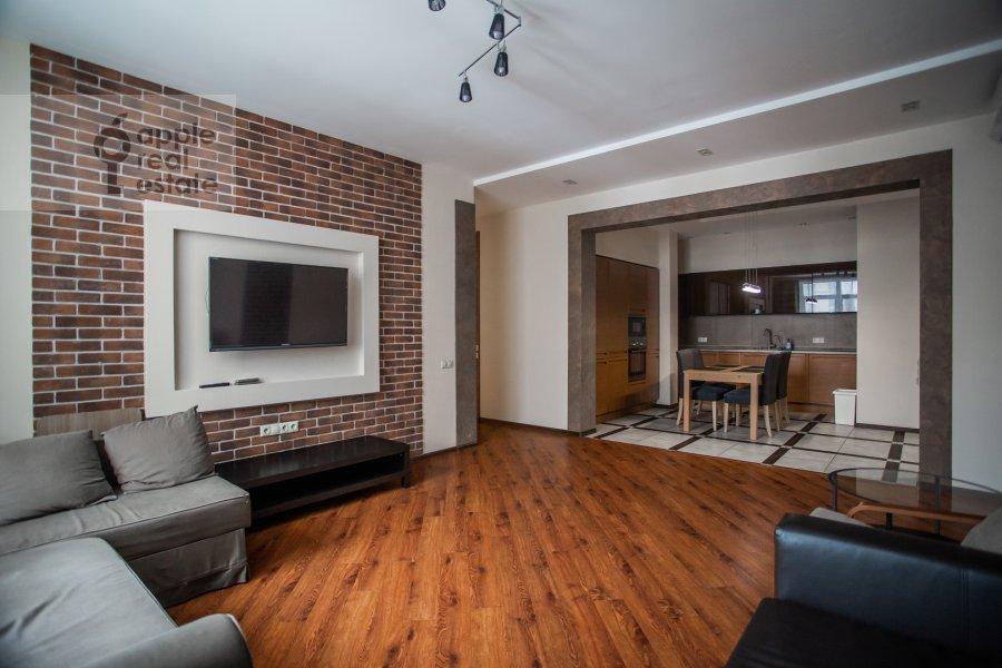 Гостиная в 3-комнатной квартире по адресу Авиационная улица 77