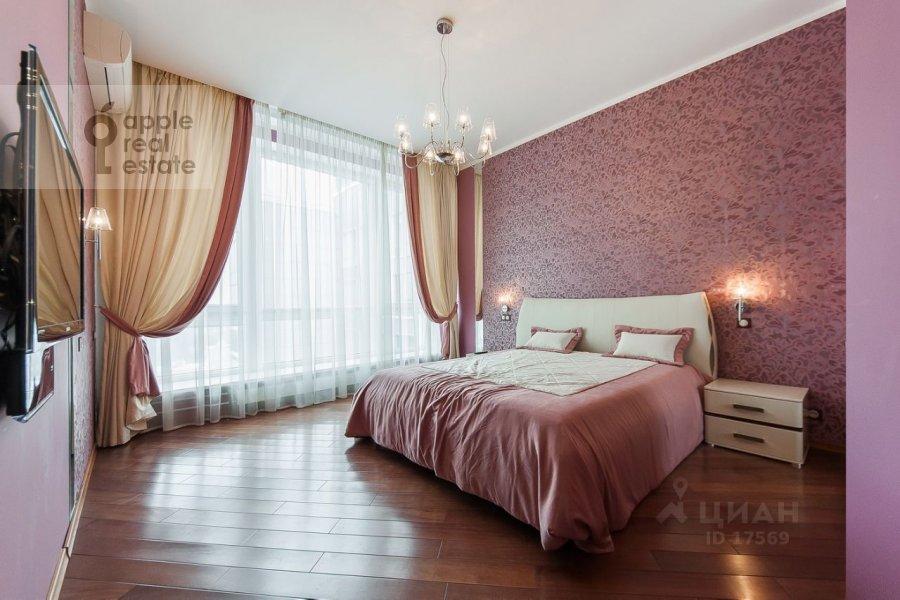 Bedroom of the 3-room apartment at Usacheva ulitsa 2s 3