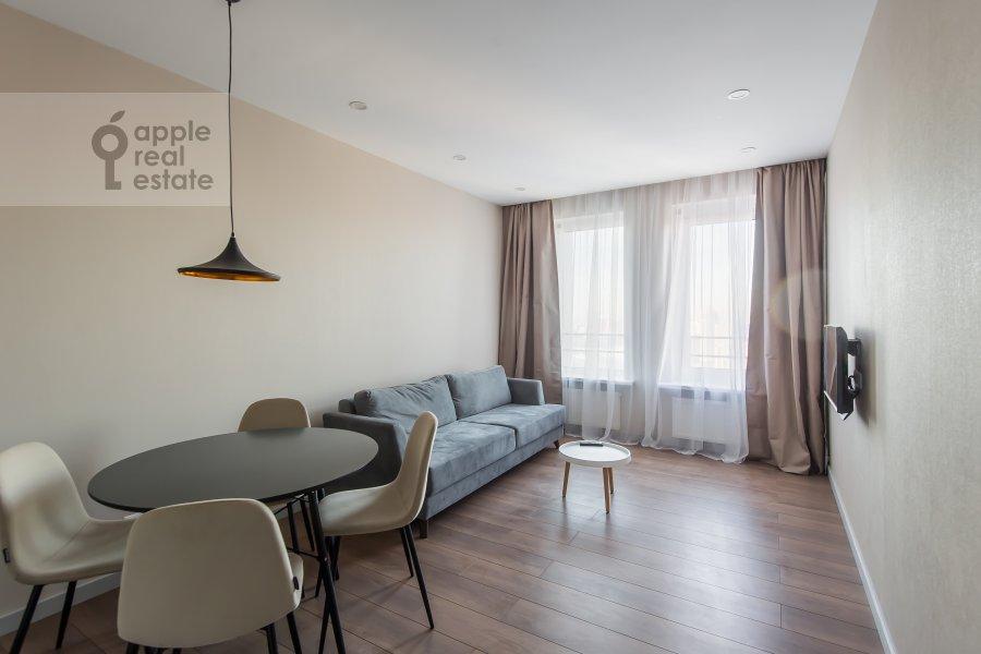 Living room of the 3-room apartment at Leninskiy prospekt 95B