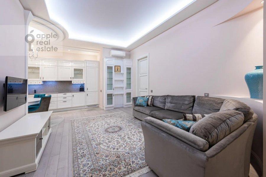 Living room of the 3-room apartment at Minskaya ulitsa 1GK1