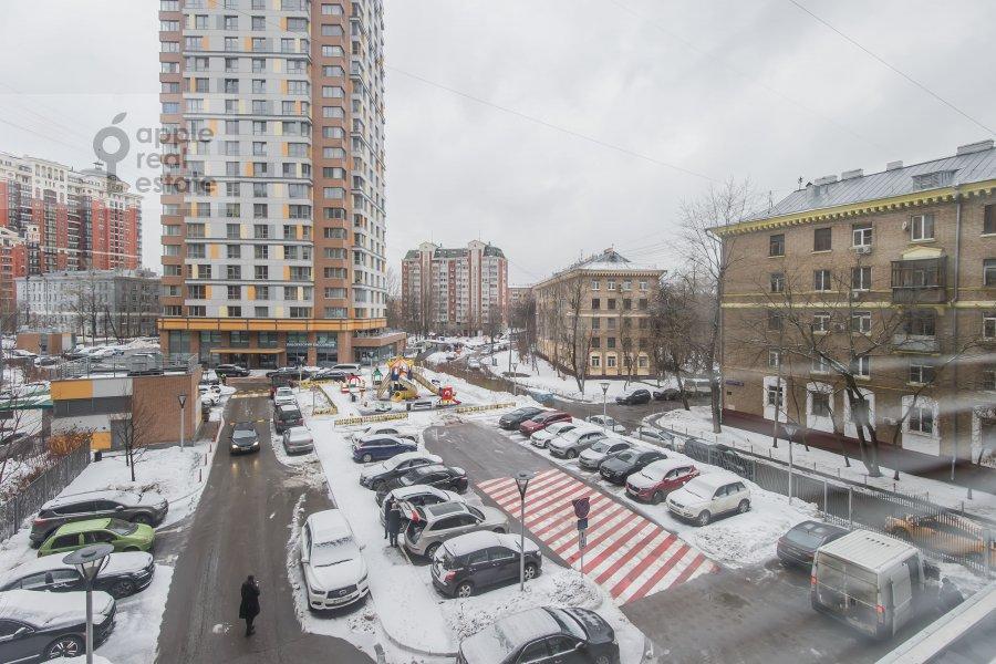 View from the window of the 3-room apartment at ulitsa Marshala Biryuzova 31