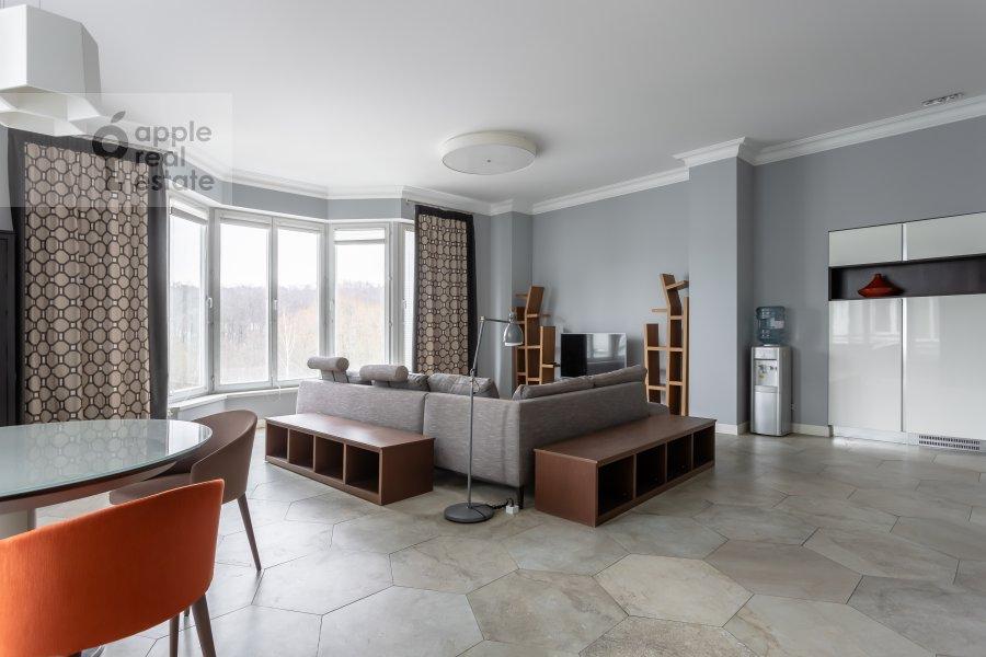 Living room of the 4-room apartment at Beregovaya ulitsa 4K1